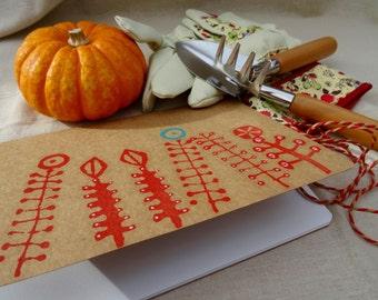 Notebook / Embellished notebook / Sketchbook / Customised Seawhite Sketchbook A5 - flowers, ink stamp design, gift for gardener