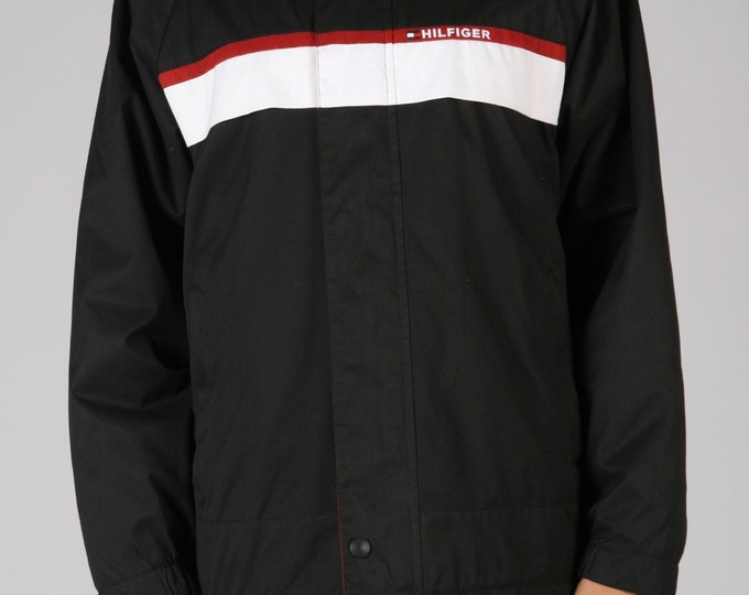 Black Tommy Windbreaker
