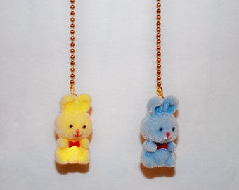 Fuzzy Bunny Ceiling Fan Chain Pull