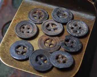 Set of 10 Antique original different buttons (n10)
