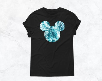 Ocean / Sea Mickey    DTG Printed Tee Shirt