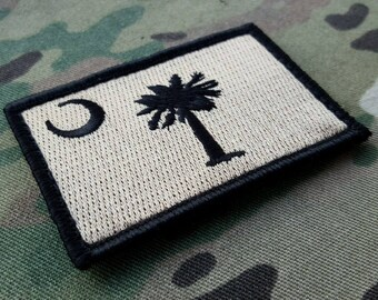 South Carolina Subdued Black Tan Morale Patch SC Infidel III% Multicam