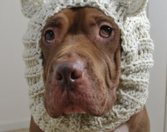 Polar Bear Dog Snood MADE TO ORDER