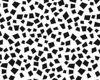 Mini black and white 54cmx22 patchwork fabric coupon cm