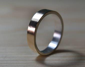 9k Gold Wedding Ring. Mens 9K Gold Wedding Band. Unisex Yellow Gold Wedding ring. Mens 9k Gold Ring. 6mm Mens Gold Wedding Band