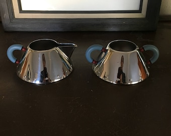 Michael Graves Sugar Bowl and Creamer Set by Alessi