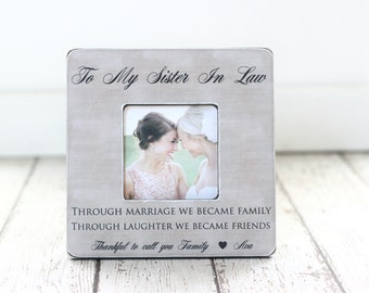 Sister in Law Gift Personalized Frame Bridesmaid Gift Bridesmaid Frame Sister in Law Birthday