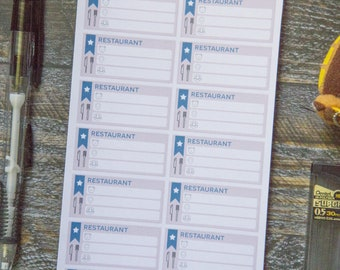 Restaurant Stickers for Weekly Scheduler / Matte & Writeable