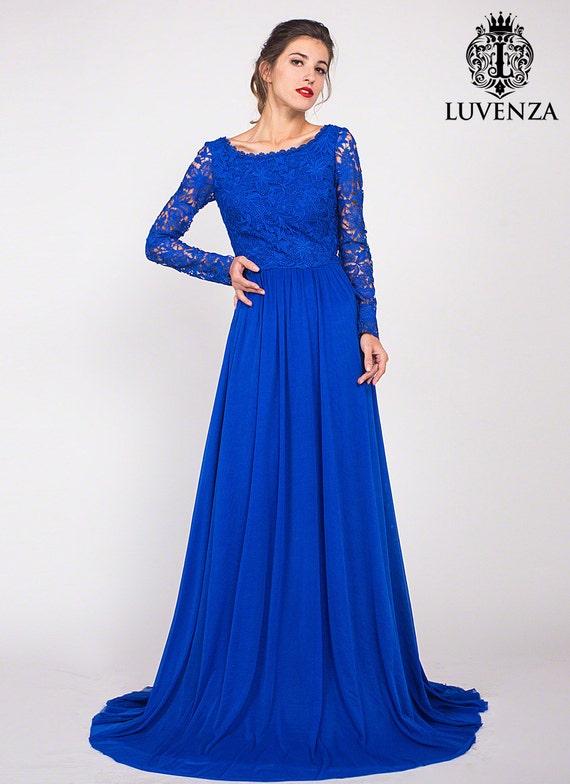 Black and Royal Blue Maxi Dresses