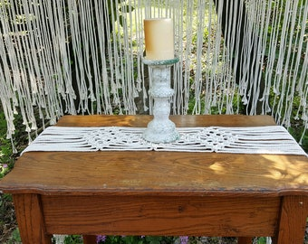 Macrame table runners Wedding table decor