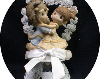 NEW! Precious Beauty and the Beast a Moment in Time Disney Wedding Cake Topper Once upon a Time Fairytale Groom top