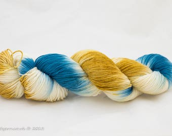 Luke's Going For Gold Hand Dyed Merino Sock Yarn
