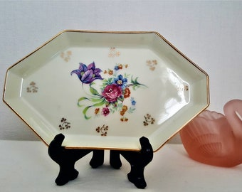 Vintage French Polygonal Tray/Polygonal Dish/LIMOGES H.T FRANCE