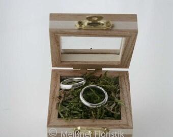 Ring cushion / ring box / ring box / wood box