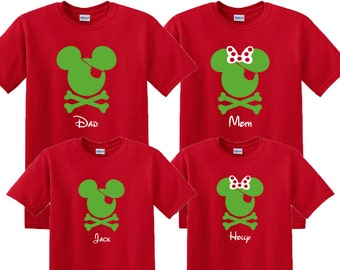 SALE!! Pirate Christmas Family Vacation Shirts, Matching Pirate Night Shirts, Disney Family Vacation, Disney Cruise, Disney Family Shirt