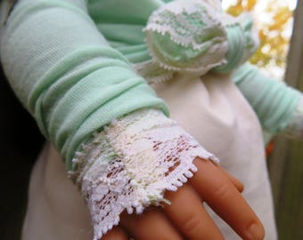Mint Green Lacey Knot Shrug Made to fit 18 inch American Girl Dolls