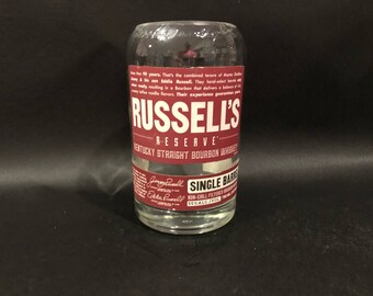 Wild Turkey Candle Russell's Reserve Single Barrel Bourbon WHISKEY BOTTLE Soy Candle.With/Without Base Made to Order. Russels Reserve Candle