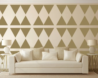 Triangle Wall Stencil, Wall Art Stencil  in reusable Mylar, wall art, small to large stencils.