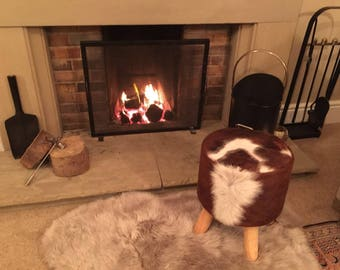 Cowhide Foot Stool