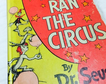 If I Ran The Circus by Dr. Seuss, Dr. Seuss, Vintage Dr. Seuss, Vintage Childrens Book, Dr. Seuss Collectibles, Rare Books