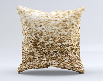 The Gold Glimmer V2 ink-Fuzed Decorative Throw Pillow