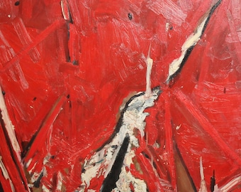 Vintage oil painting abstract expressionism