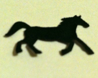 100 Hand Punched  Black Horse die cuts, paper punches for invitations,scrapbooking,