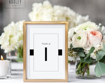 Printable table numbers set - Carson collection