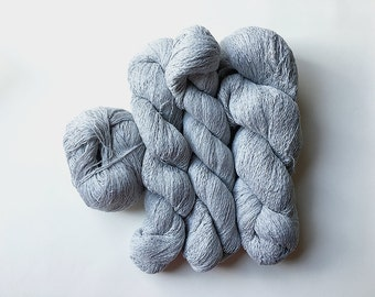 Reclaimed Lace Yarn - Cotton - Light Grey Heather