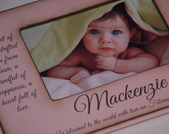 Personalized BABY Frame - Personalized with the Baby's Name New Baby Gift Baby Shower