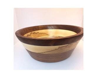 Maple & Walnut Layered Bowl