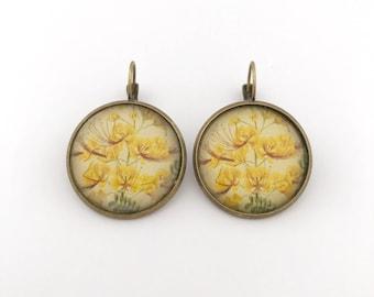 Victorian Earring, Floral Earring, Victorian Jewelry, Vintage Earrings, Vintage Style, Dangle Earrings, Drop Earrings, Victorian style