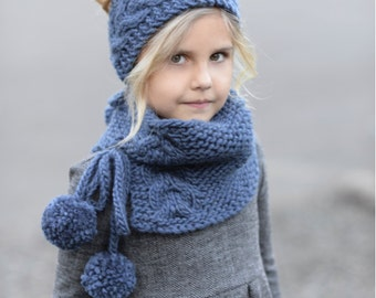 Knitting PATTERN-The Plumage Set (Toddler, Child, Adult sizes)