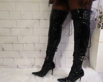 Above And Beyond Thigh High Boots