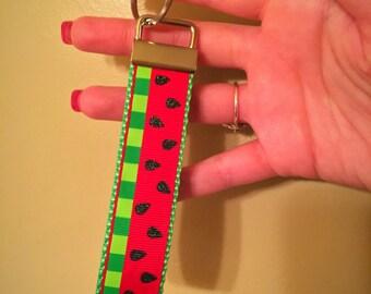 Summer Glitter Watermelon Key Chain