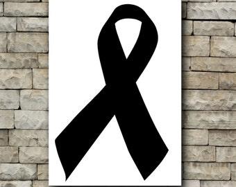 Awareness ribbon vinyl decal/car decal/tumbler decal/cancer awareness