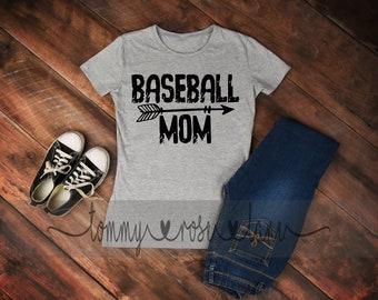 Distressed Baseball Mom Tshirt,  Baseball Mom Shirt, Love Baseball Tshirt, Womens Sports shirt, Baseball Spirit Shirt