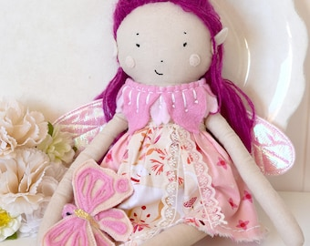 Pink Blossom Fairy with Butterfly Doll