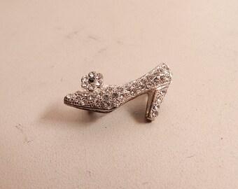 silver rhinestone shoe pin