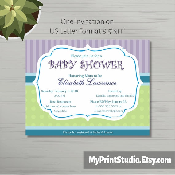 Neutral printable baby shower invitation template in ms word neutral printable baby shower invitation template in ms word boygirl shower card template printed invitations or diy instant download stopboris Choice Image