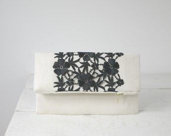 Unique Black Lace clutch | Mother of the Bride Gift | Mother of the Groom Gift
