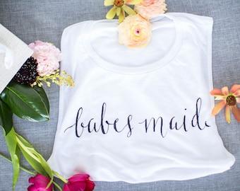 Bridesmaid Tank Top, Babes Maid Bridesmaid Tank Top, Bridesmaid Gifts, Bridesmaid Bachelorette Gifts