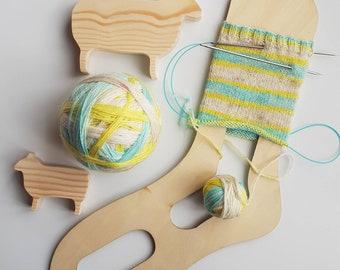 Aqua Lemon Self Striping Sock Yarn 100g