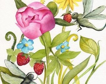 Garden- botanical art