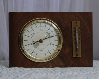 1960's Berometer and Thermometer