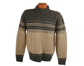 Men's Snowflake Sweater Vintage 1970s Jantzen Size L