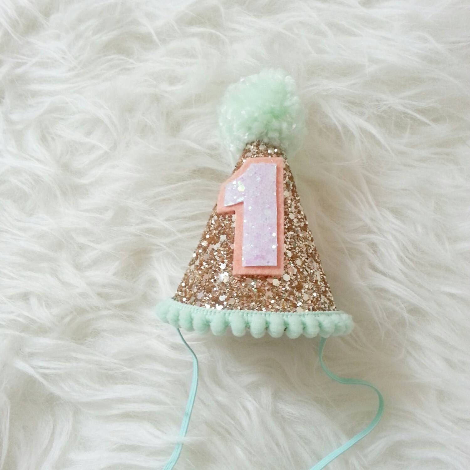 Mini Glittery Birthday Girl Party Hat Birthday Cake Smash