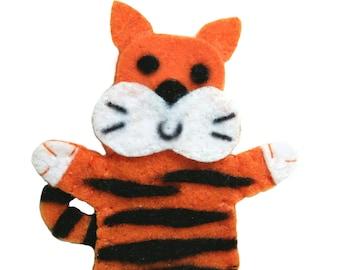 Tiger Felt Finger Puppet PDF Pattern Tutorial/ Zoo Animal Finger Puppet Digital Pattern