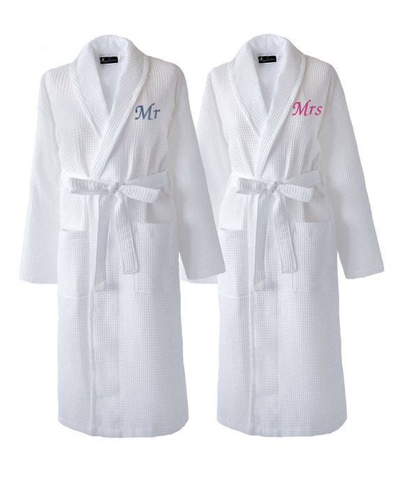 Matching Couples Waffle Dressing Gowns Wedding Day Gift Mr