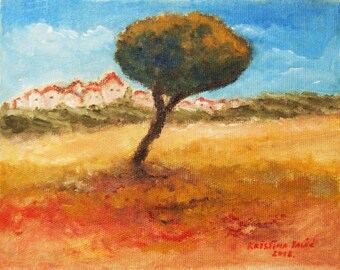 Landscape Painting,  Tree Painting, Acrylic on Canvas, Painting on Canvas, Wall Decor